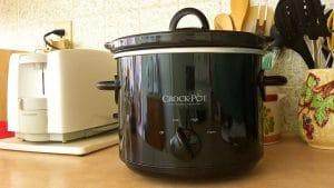 Crockpot on a kitchen counter